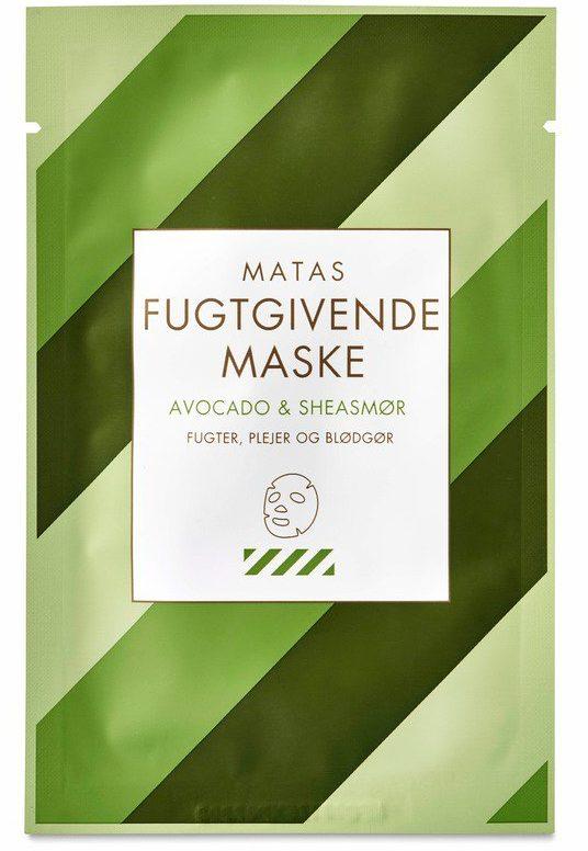 matas de stribede ansigtsmaske avocado