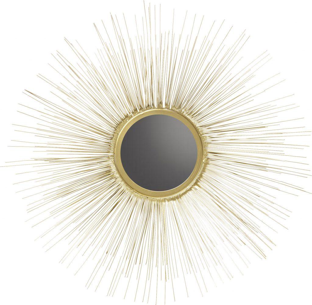 spejl guld magasin sol indretning