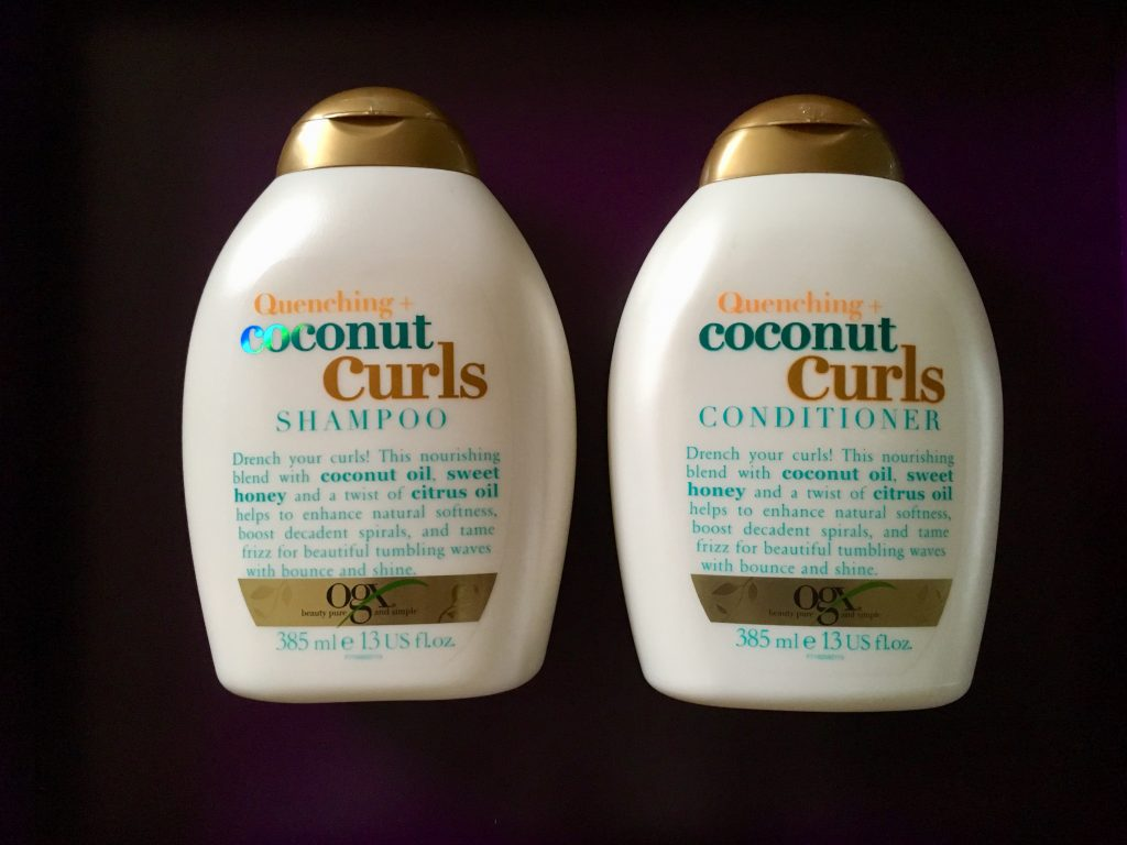 ogx shampoo conditioner hår krøllet