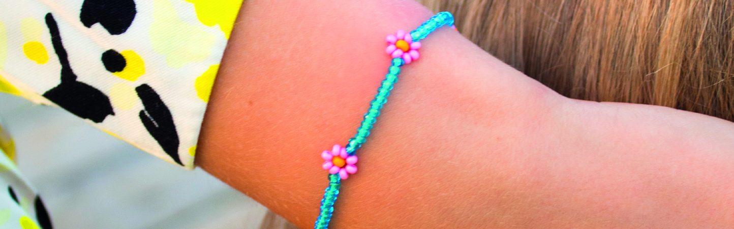 hay perler Marguerite-armbånd diy