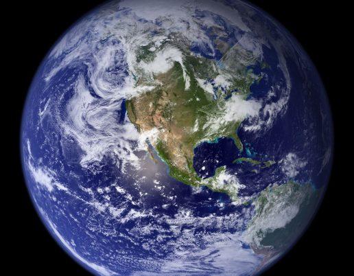 Jorden, klima, co2, den blå planet
