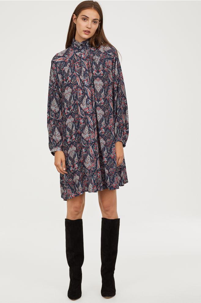 kjole mønstret h&m hennes & mauritz