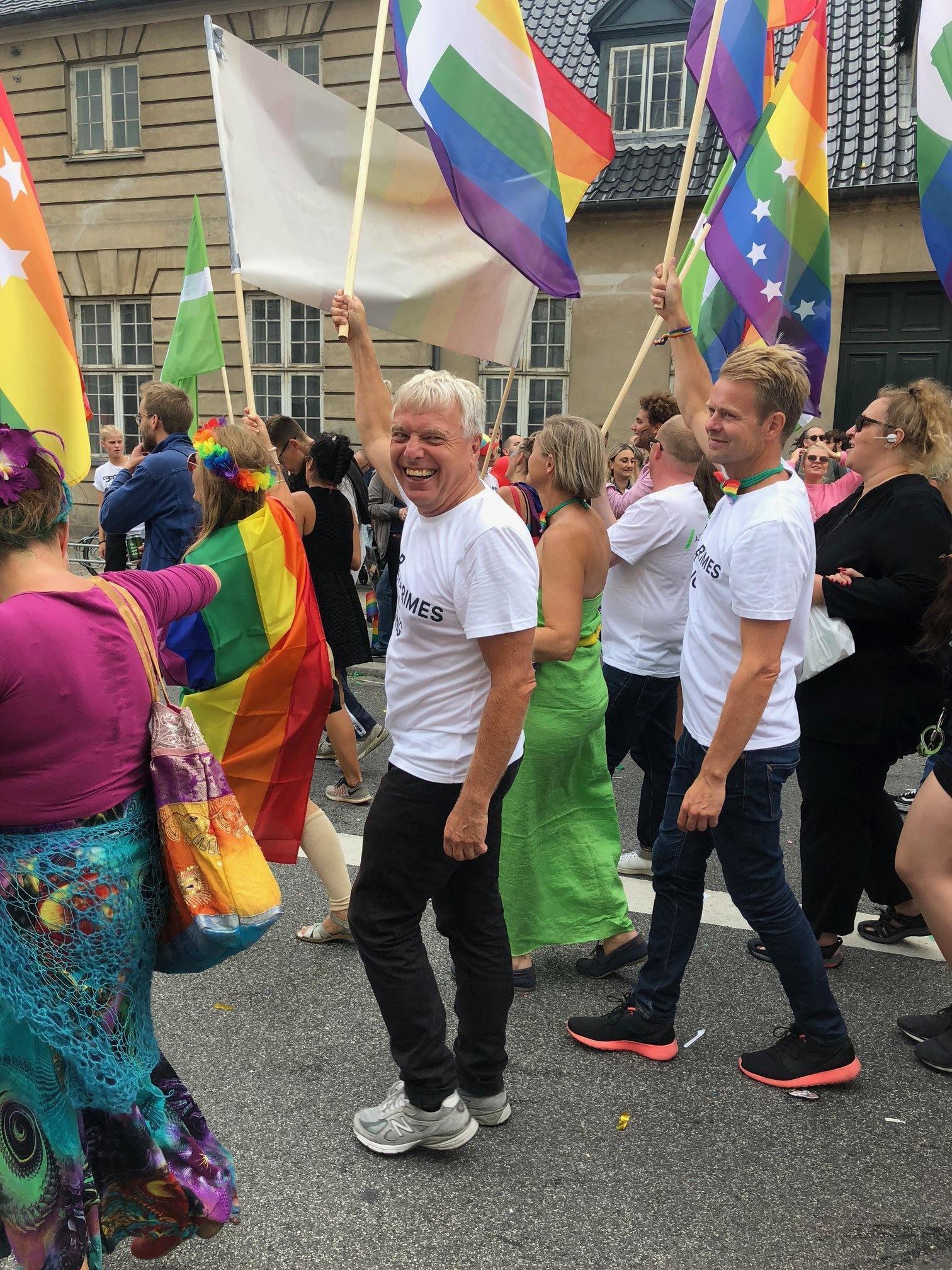 Uffe elbæk, copenhagen pride, pride, lgbtq, politik, politiker, alternativet
