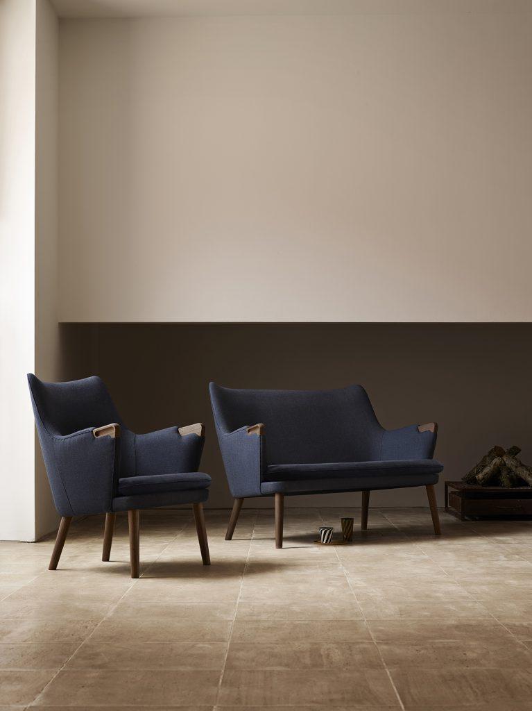 carl hansen hans wegner dansk design sofa lænestol