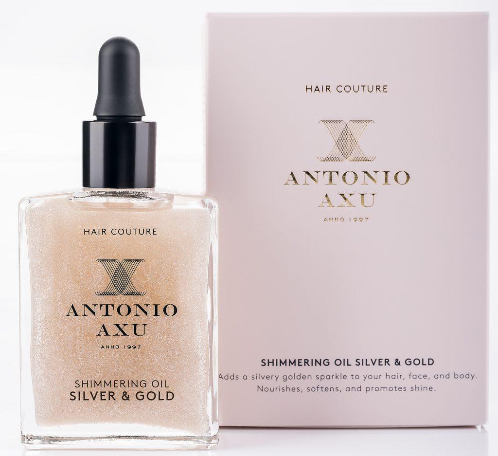 hår olie Antonio_Axu_Shimmering_Oil_Silver_and_Gold_60ml_DKK299
