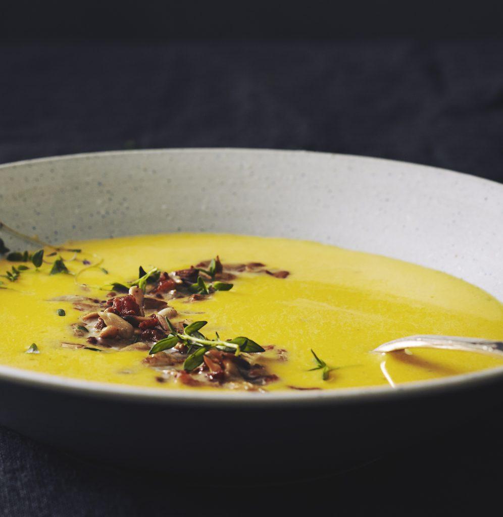 efter år opskrift suppe 29 Jordskokkesuppe med græskar
