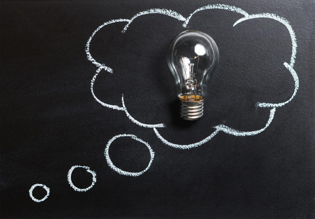 Idé klog iværksætter tanker tænke