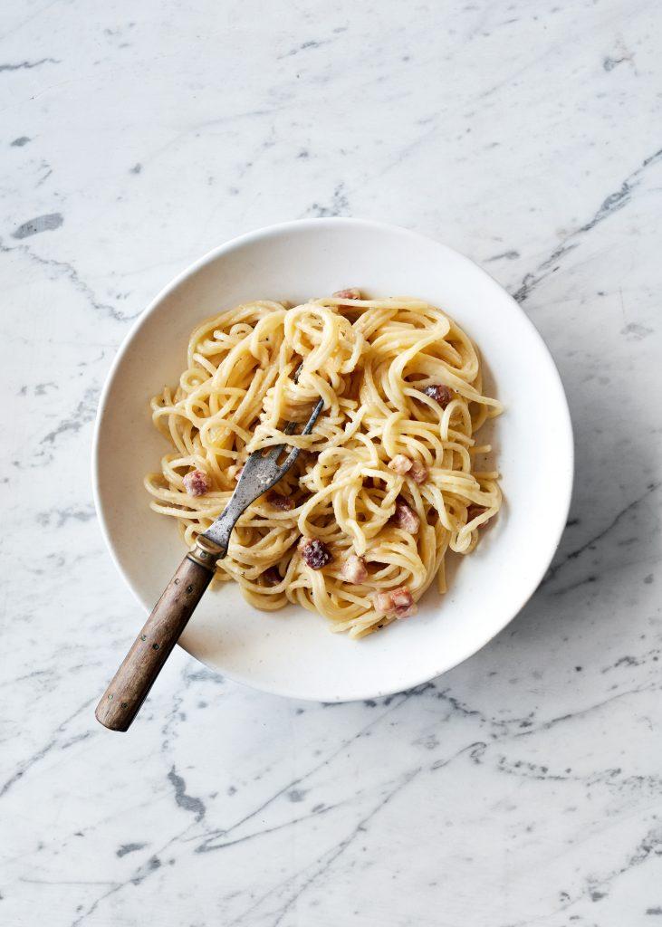 opskrift italiensk spagheti carbonara louise lorang (Foto: Chris Tonnesen)