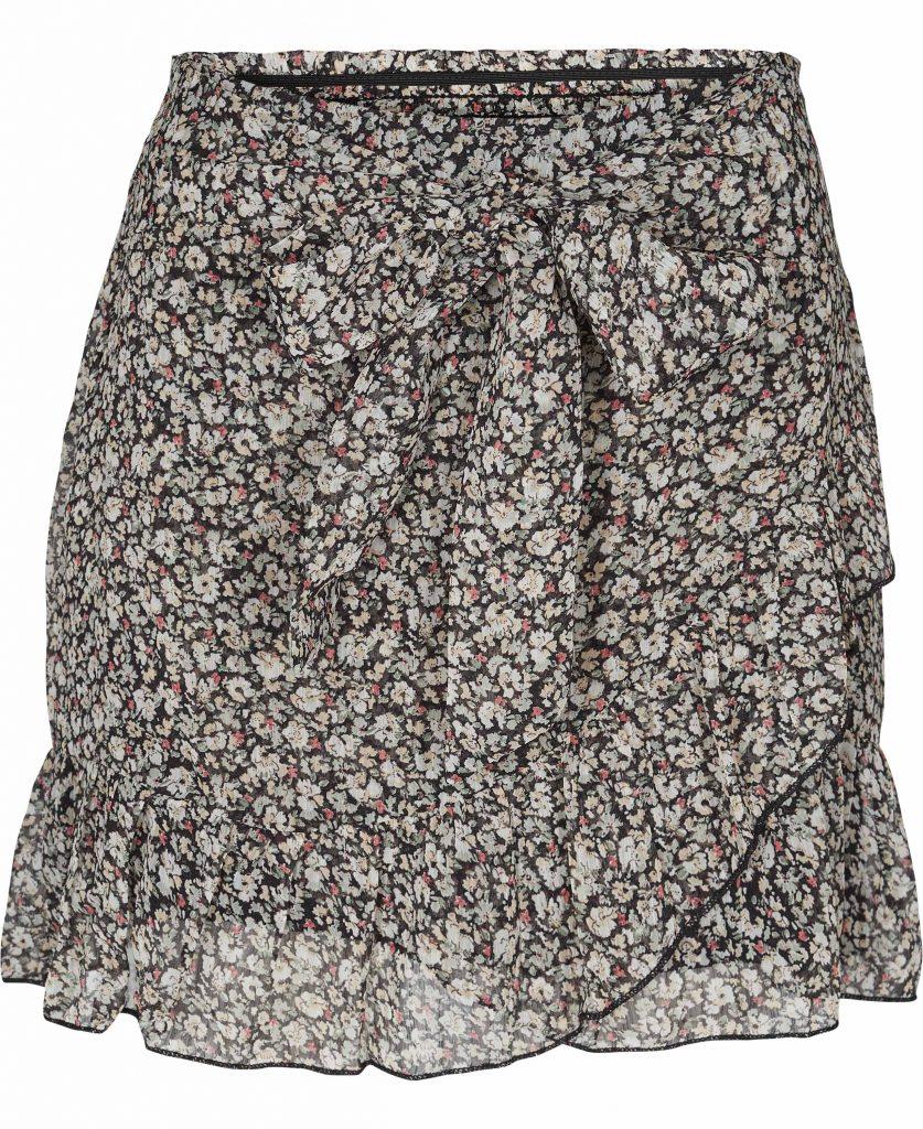 blomster neo noir nederdel