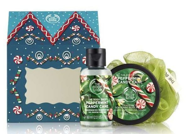 body shop gavesæt creme body butter candy cane
