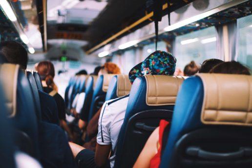 ferie, frygt, bus, transport, offentlig transport, køre, køresyg