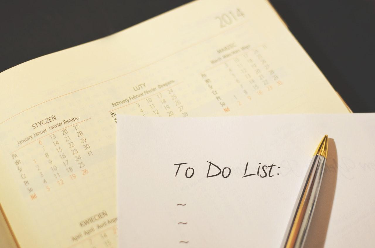 nytårsfortsæt, planlægning, organisering, nyt, år, vaner