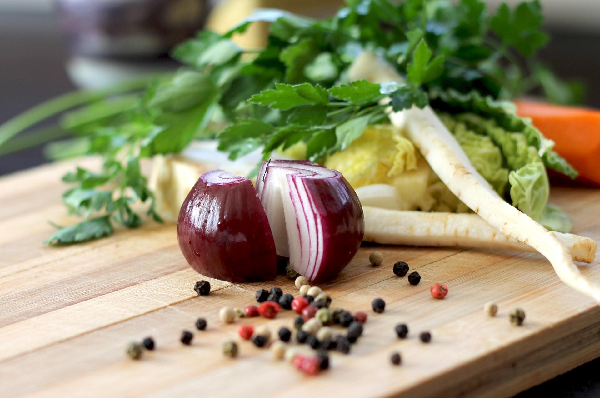 Grøntsager, sundt, mad, aftensmad, madspild, middag, løg