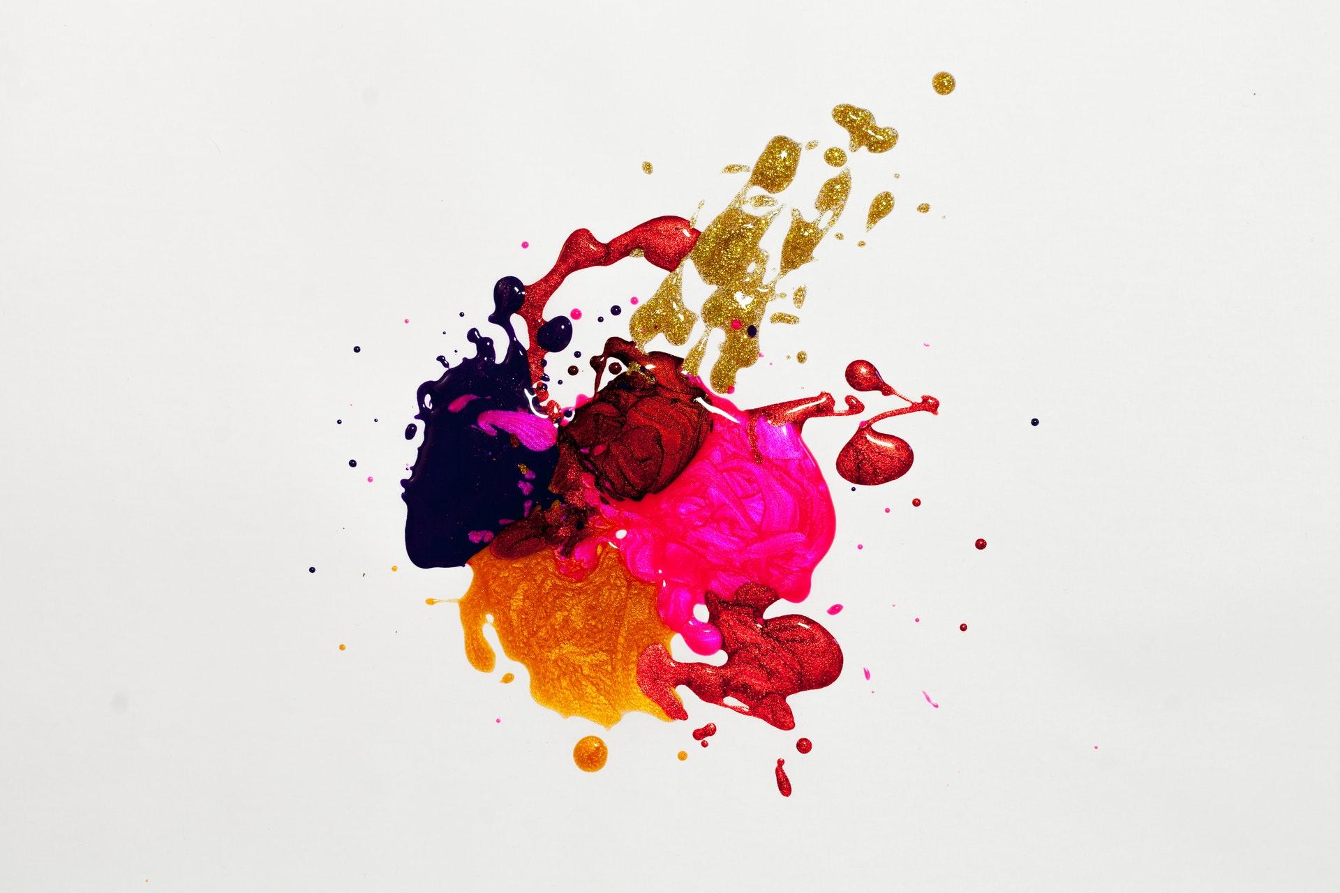 Blæk, maling, kreativ, sjov