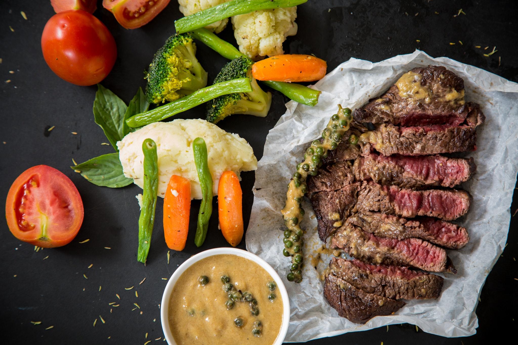 Steak, mad, aftensmad, kød, sundt, sundhed, middag, madspild