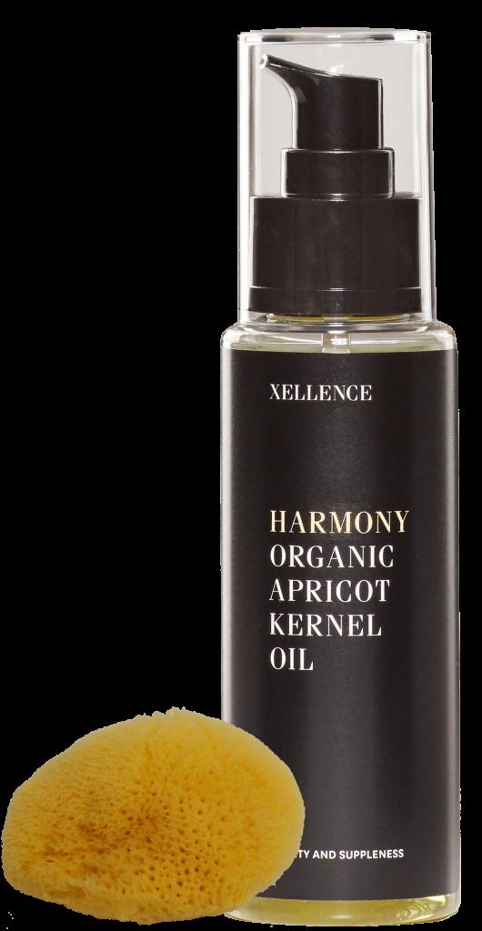 organic-apricot-kernel-oil-flaske xellence olie hudpleje