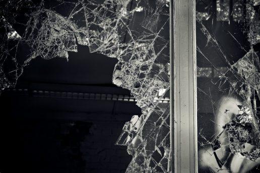Eksplosion, ødelagt, glas, eksploderet, politi, hærværk, bombe