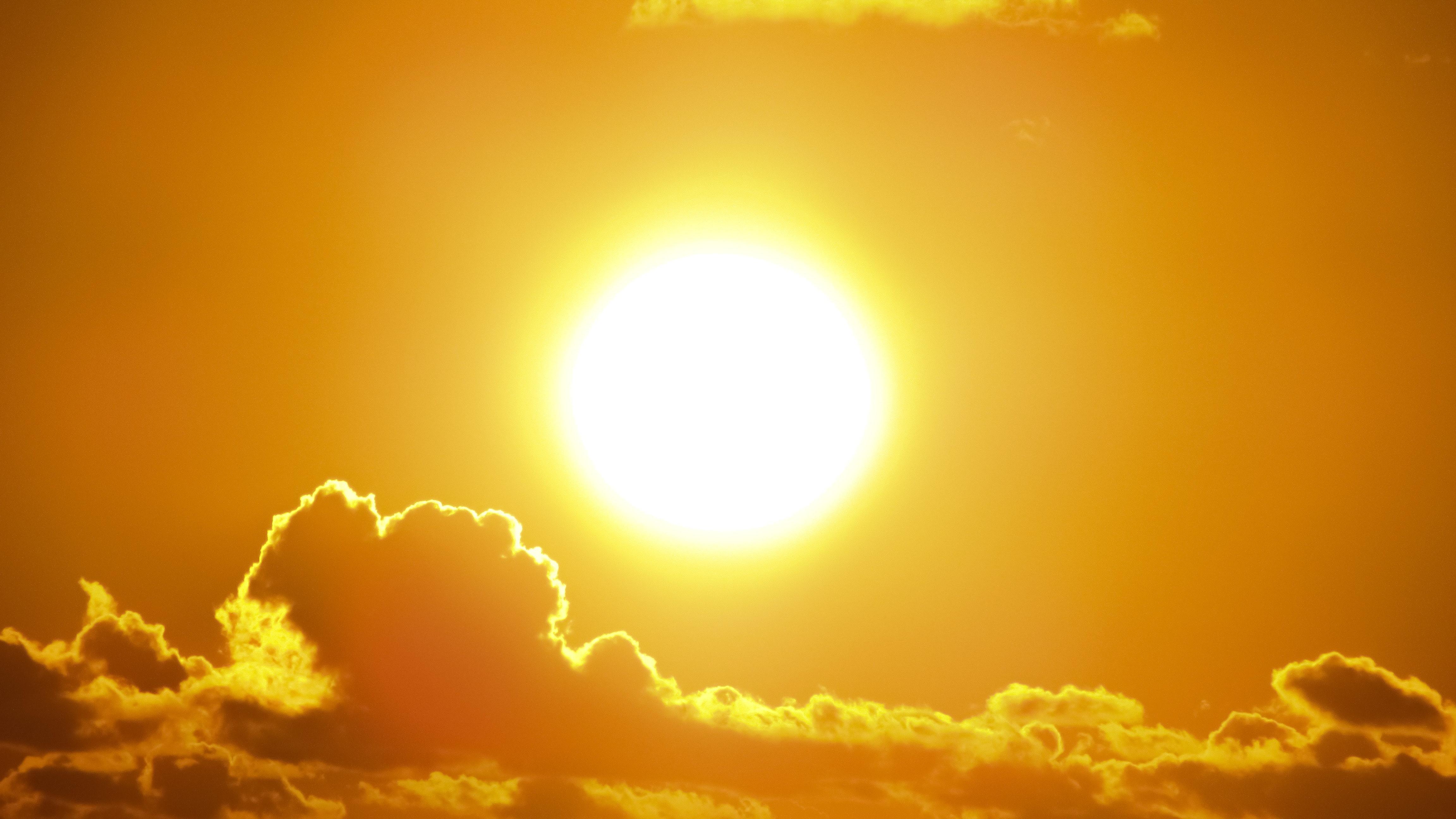 Sol, varm, ferie, sommer, vinter, solnedgang