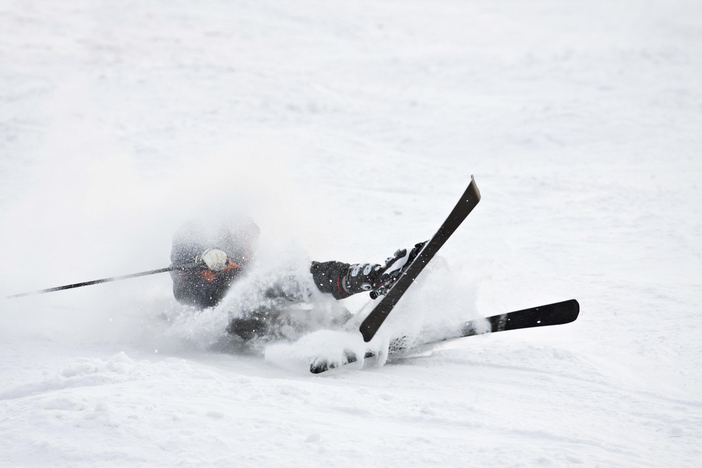 Ski, sne, vinter, vinterferie, ulykke, mænd, sne