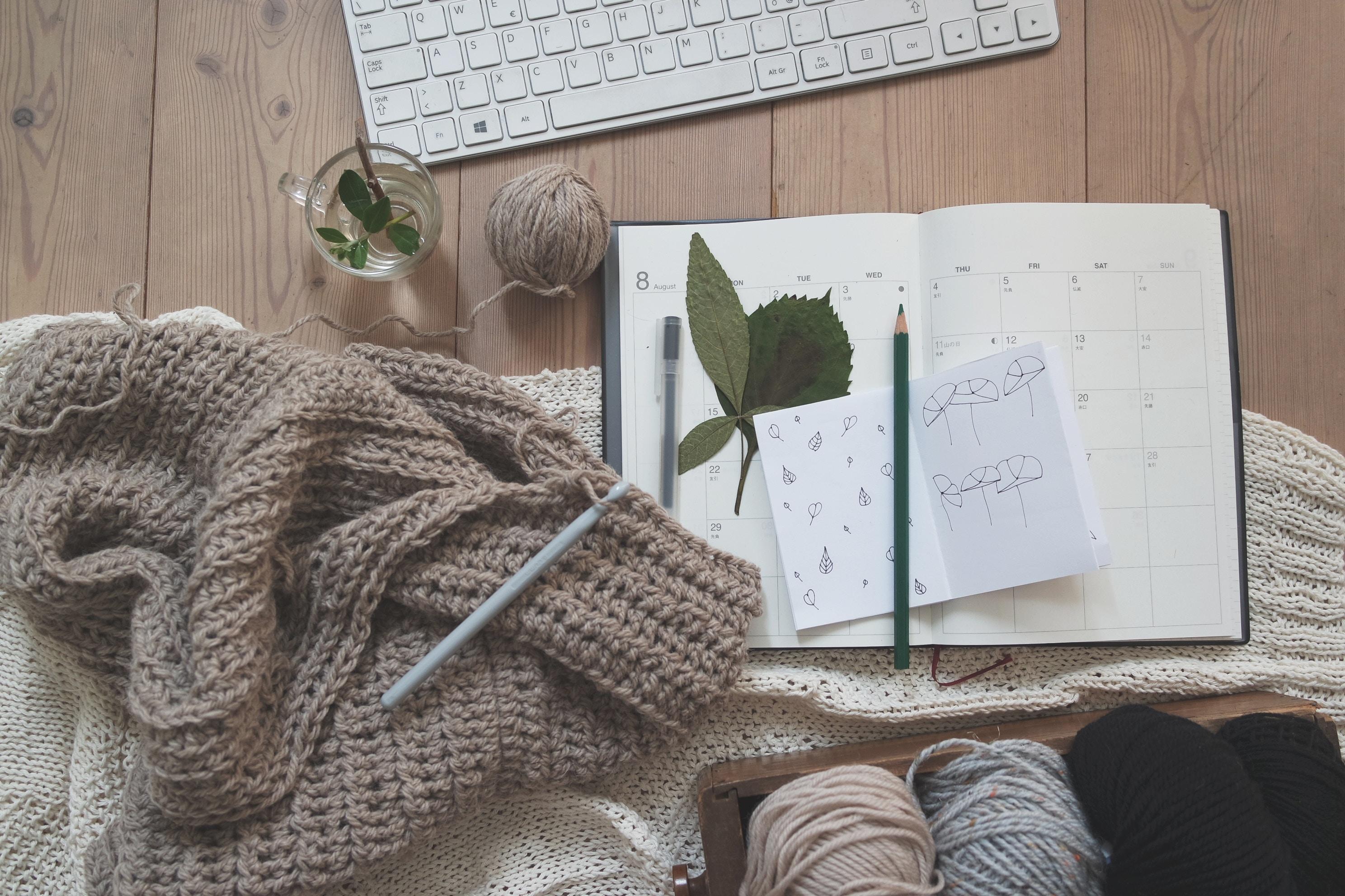 strik, hygge, indenfor, indendørs, kreativ, kalender, strik, afslapning, slappe af, slap af