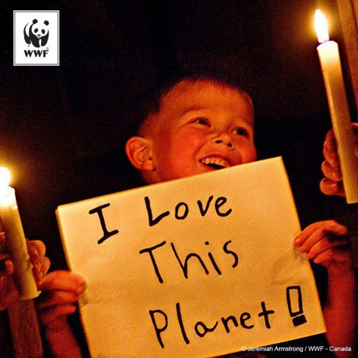 Earth Hour handler om at give en sund klode videre til næste generation. (Foto: WWF)