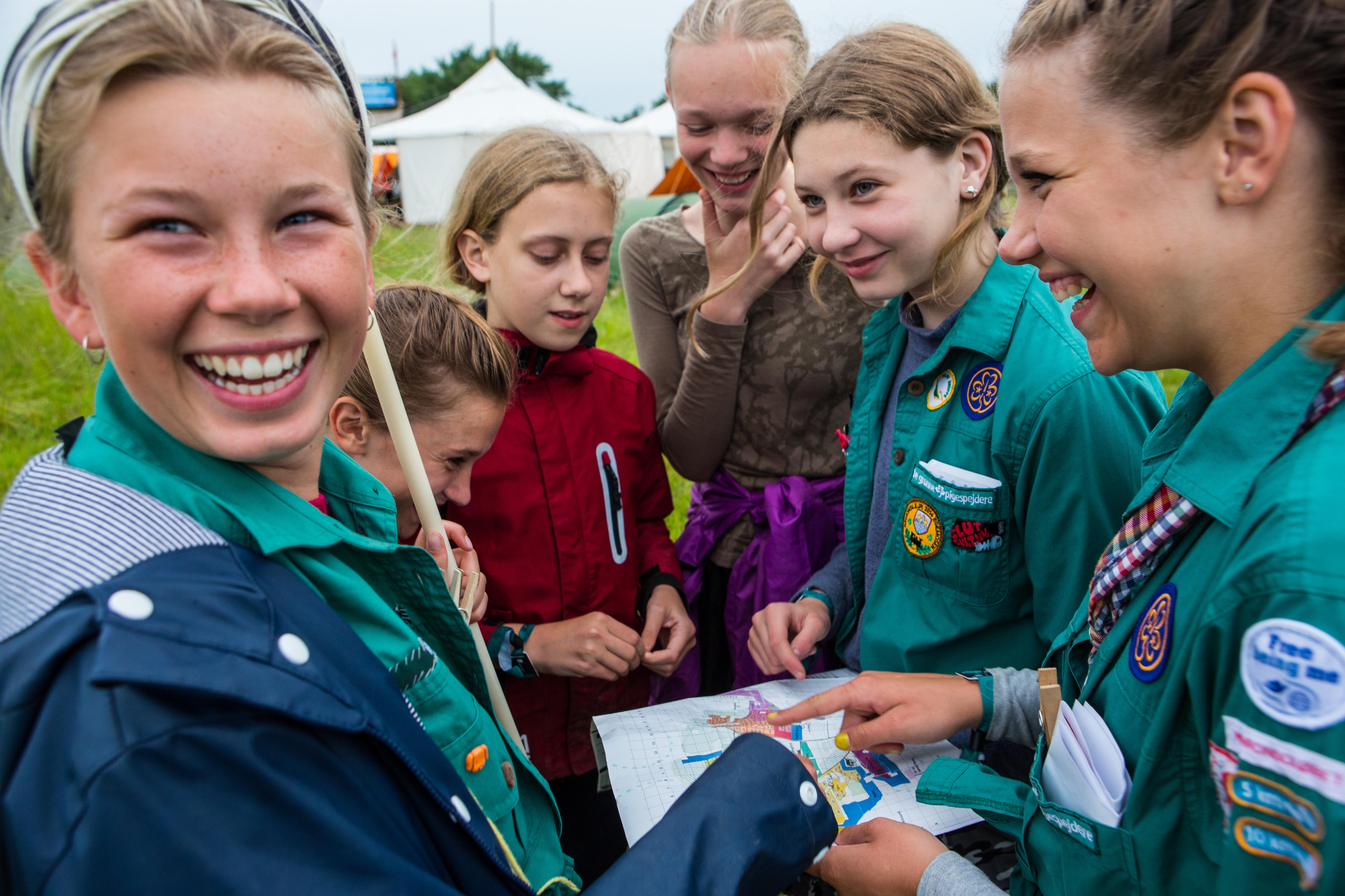 De grønne pigespejdere kan i år fejrer 100 år i Danmark. (Foto: Spejderne)