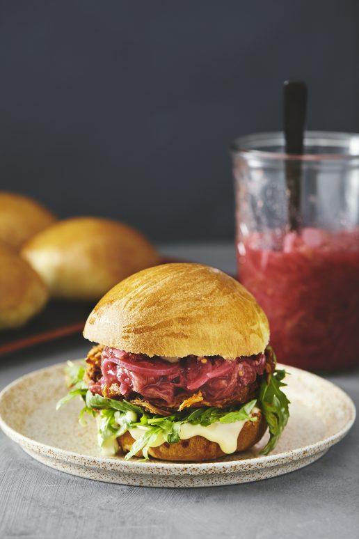 pulled pork burger rabarber opskrift bog (Foto: Søren Staun Petersen)