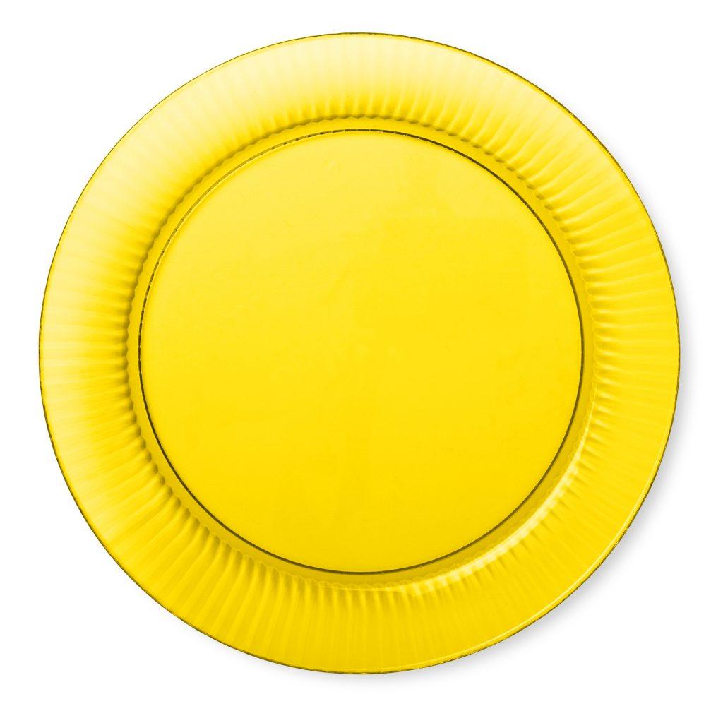 plastik tallerken gul