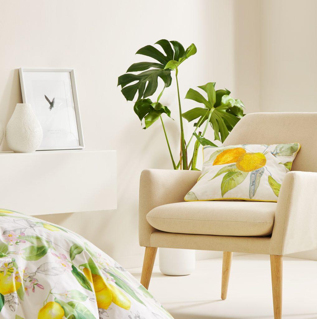 indretninger citron stol zara pude fingerfilidendron
