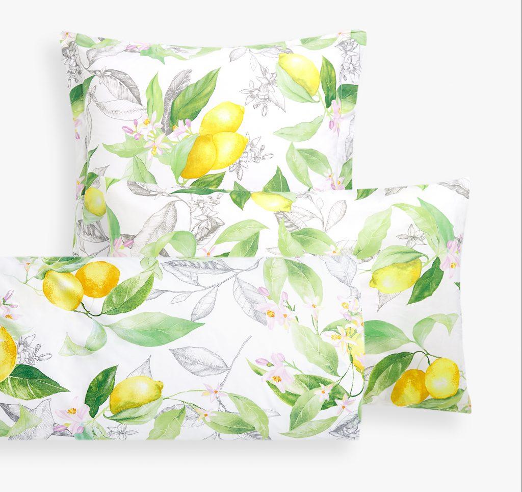 zara home citroner sengetøj