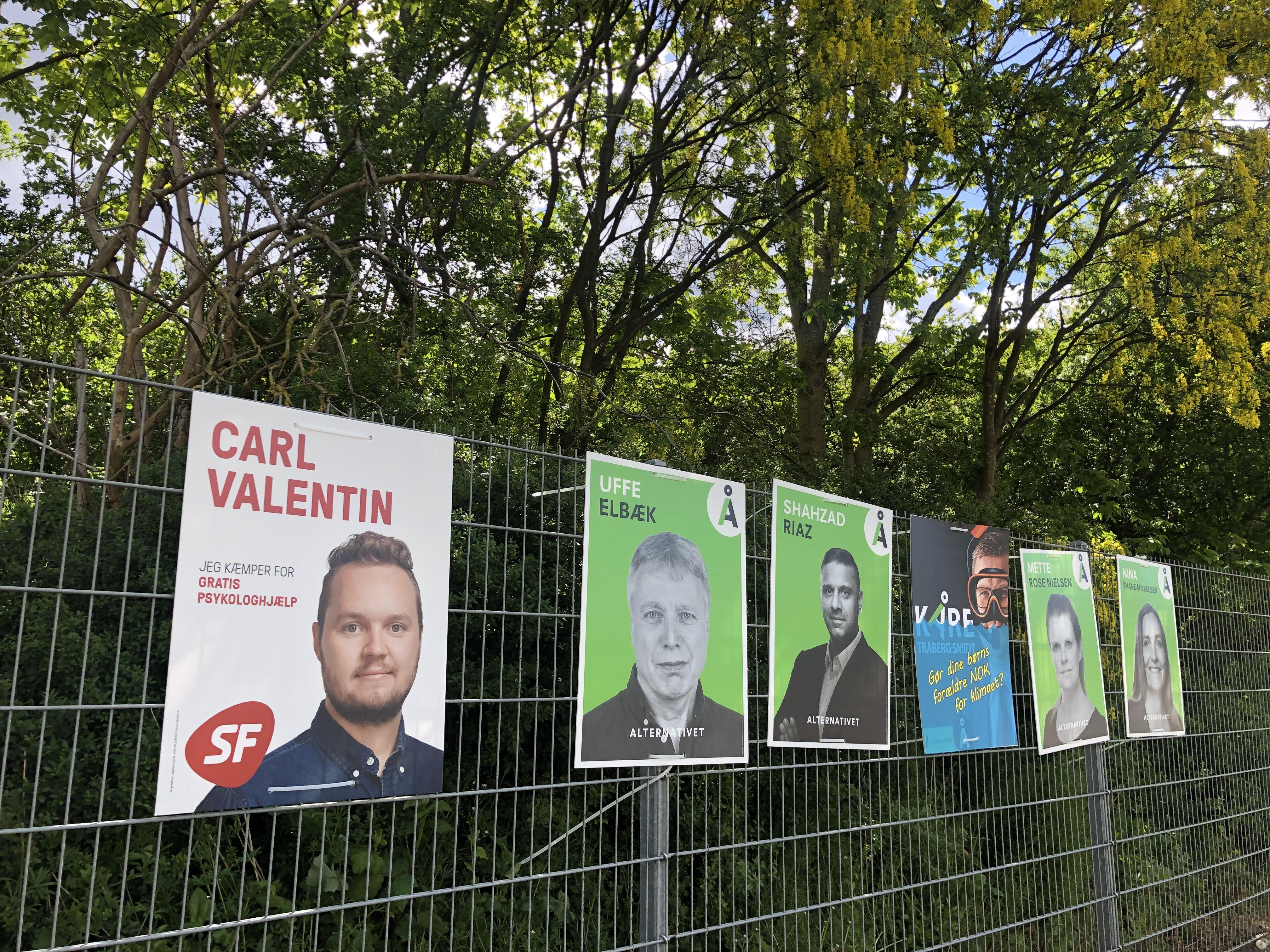 Valgplakater, valg, folketingsvalg, folketinget, politik, christiansborg