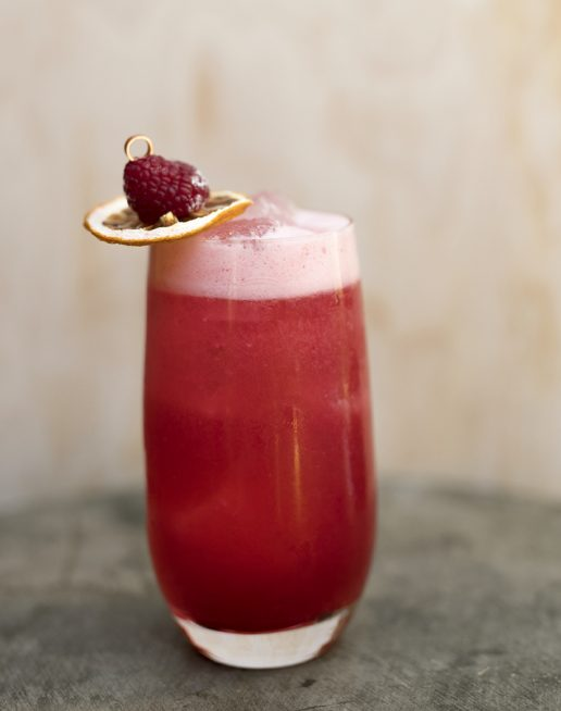 bohemian raspberry drink cocktail