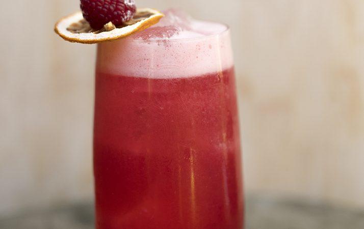bohemian raspberry drink cocktail