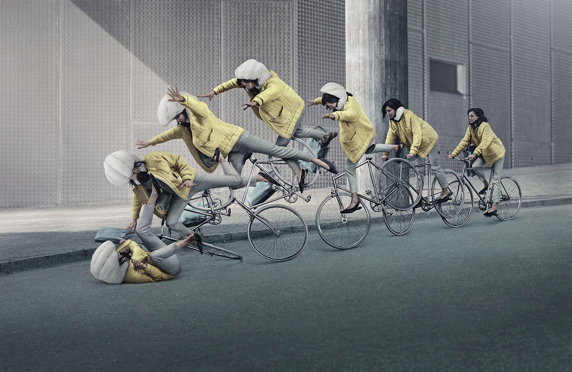Hövding, cykelhjelm, cykel, hjelm, sikker, sikkerhed, trafik, cyklist