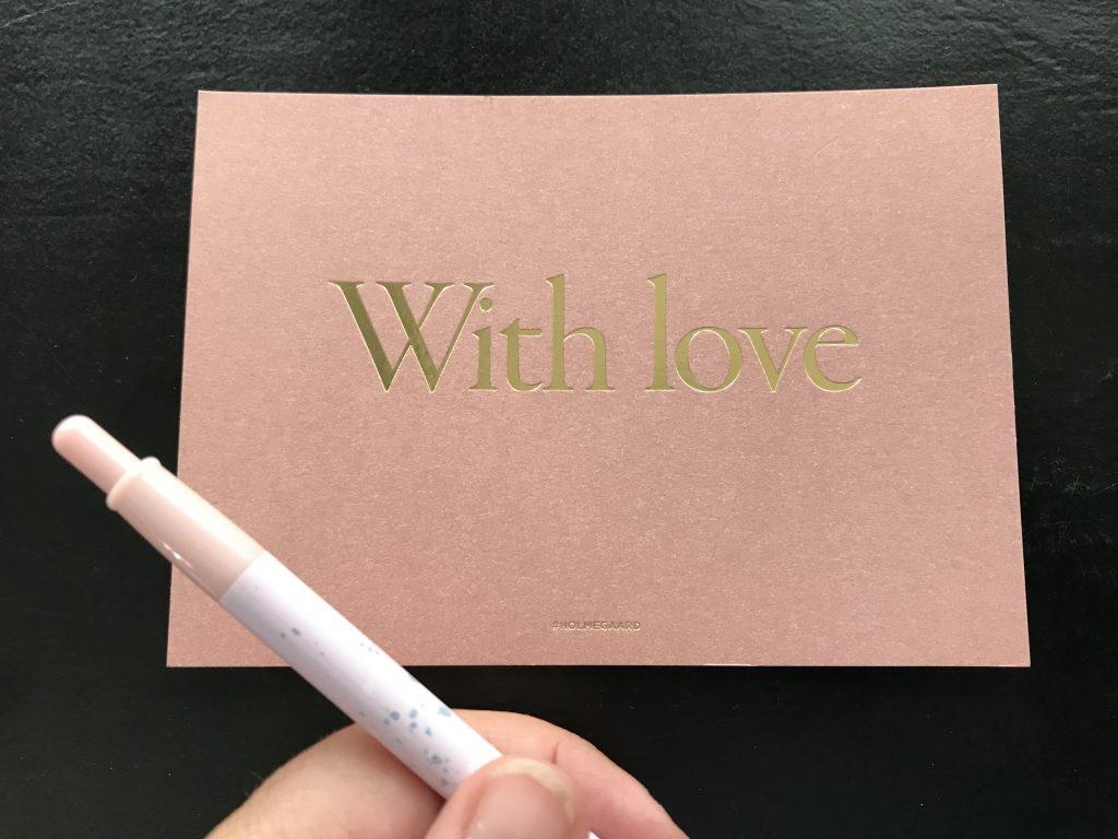 kort far kærlighed skriv kuglepen love (Foto: MY DAILY SPACE)