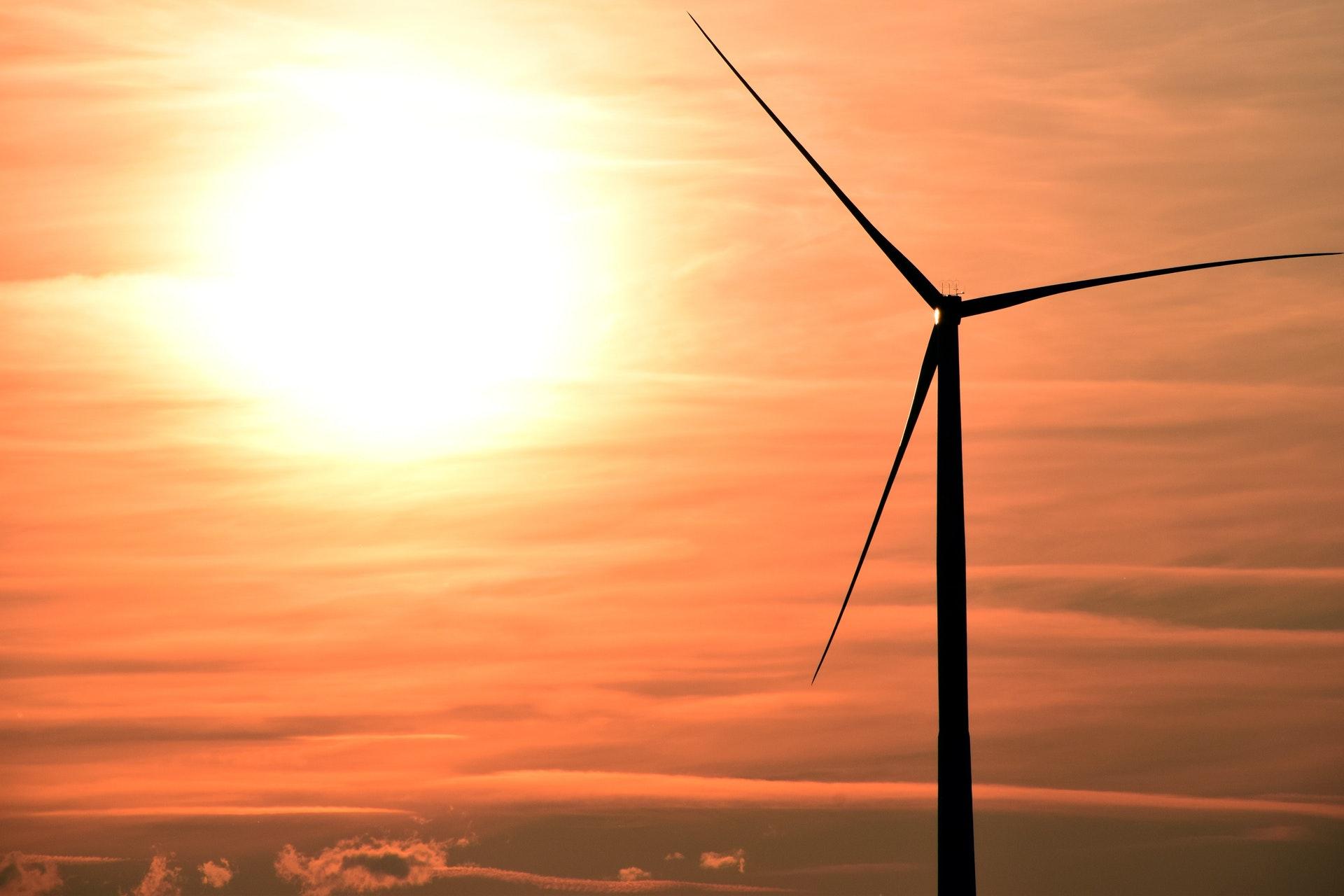 klima, vindmølle, sol, solnedgang, sommer, himmel, co2, fn, natur
