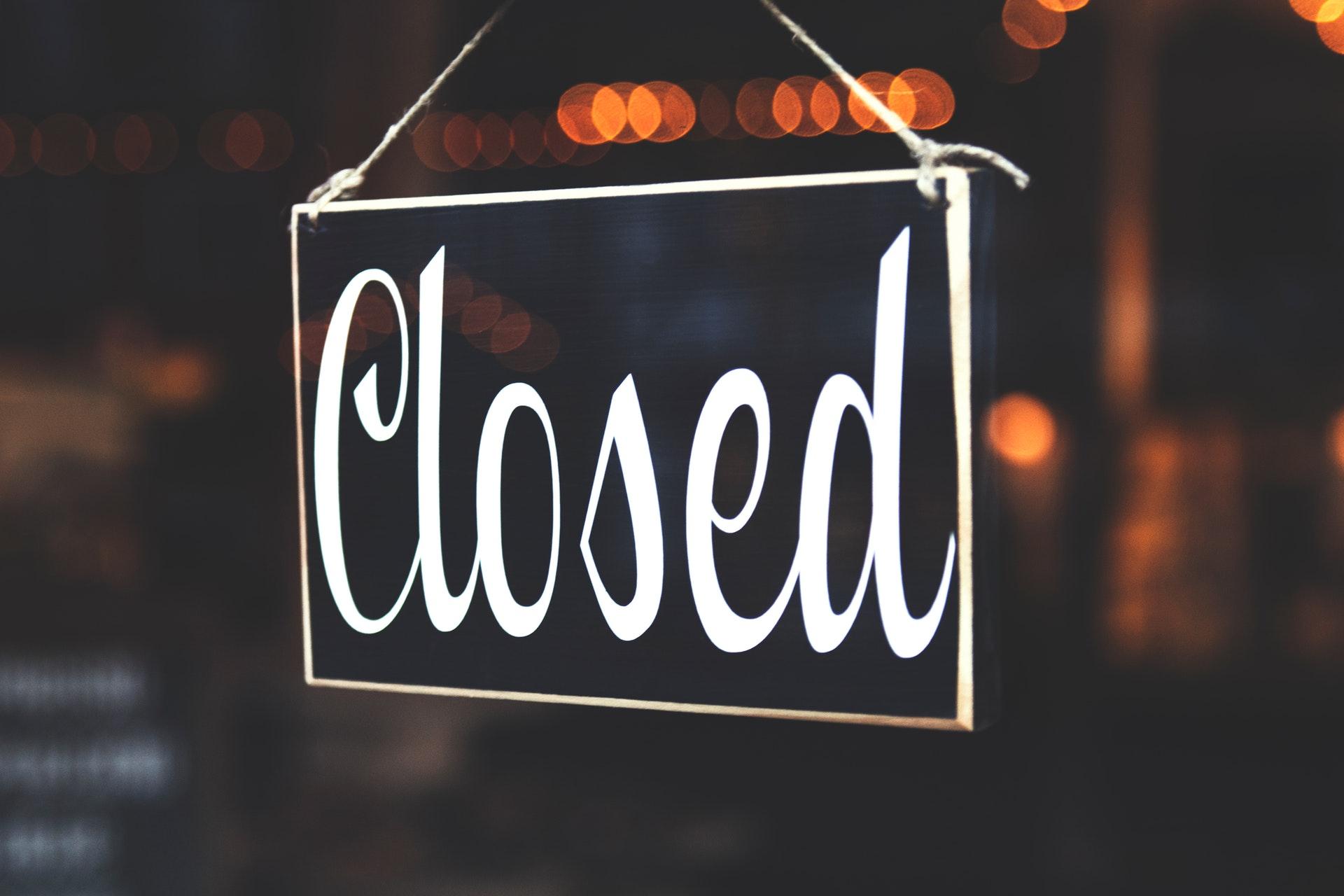 luk, lukket, restaurant, jamie oliver, konkurs, closed
