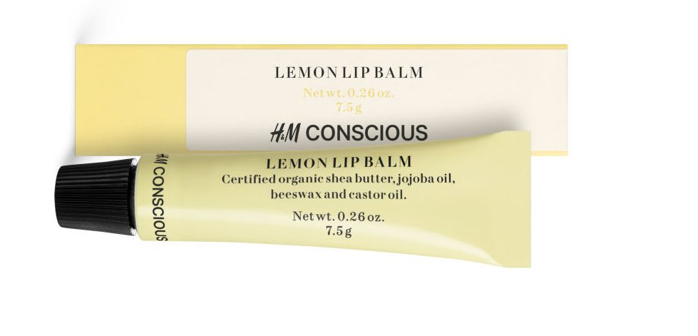 h&m læbepomade citron