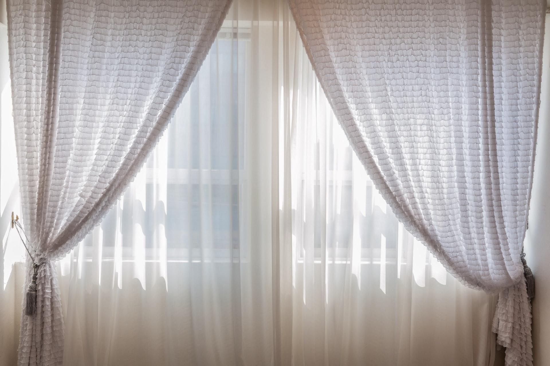 soveværelse, gardiner, bolig, indretning, sommer, lur, søvn, sove