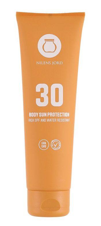 solcreme, sunlotion, nilens jord, bodylotion, solbeskyttelse, faktor 30, solfaktor