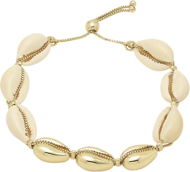 armbånd, musling, muslinger, smykke, accessories, guld