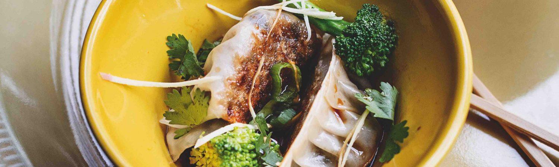 wonton dumplings shiitake svampe grøntsagskogebogen (Foto: Grøntsagskogebogen)