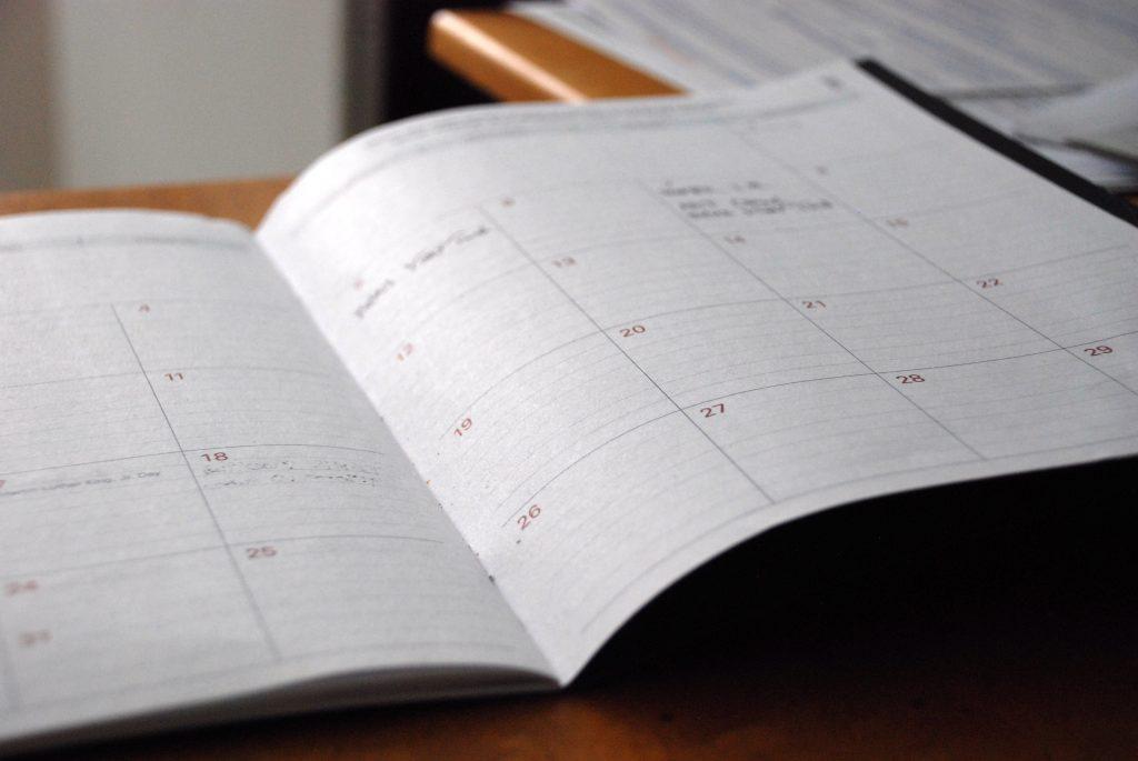 kalender, sig nej, timing, planlægning, planlægge, tid, overskue, overskuelgt, calender (Foto:Unsplash)