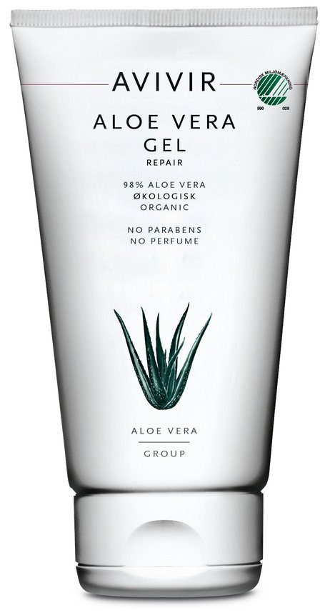 produkt, hudpleje, aloe vera, lindrende, irritation, kølende, beroligende, avivir, gel