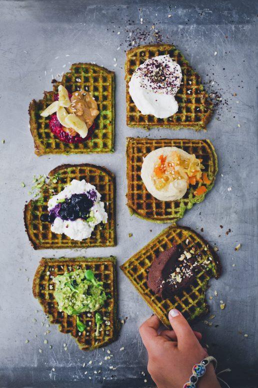 spinat hytteost vafler little green kitchen (Foto: David Frenkiel)