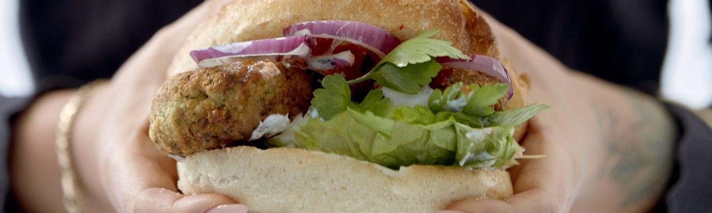 falafel-burger burger opskrift vegetar falafel (Foto: Bjarni B. Jacobsen)
