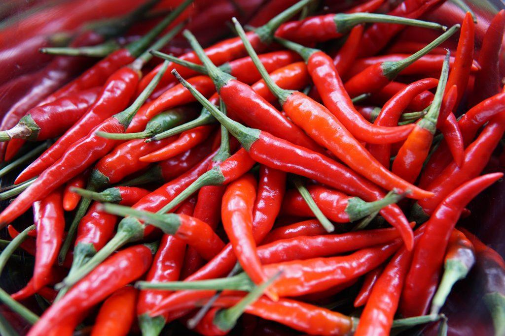 chili spicy grøntsag rød (Foto: Unsplash)