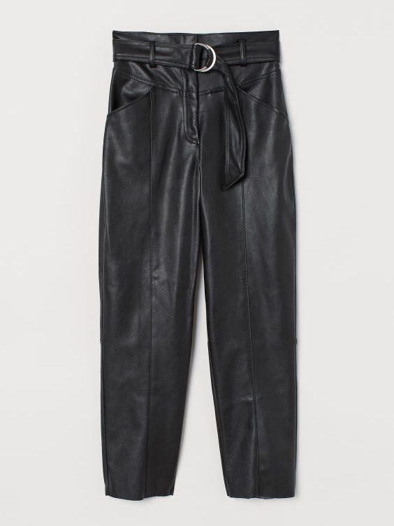 hm, bukser, efterår, læder, mode