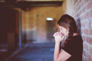 pige, sad, ked, kvinde