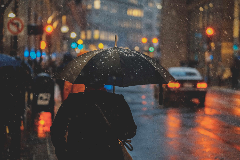 regn, vådt, efterår, paraply